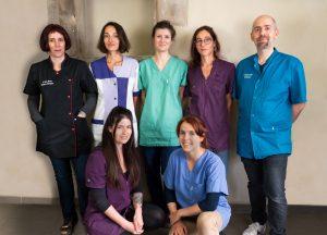 L'équipe de la Clinique vétérinaire de la Tivollière